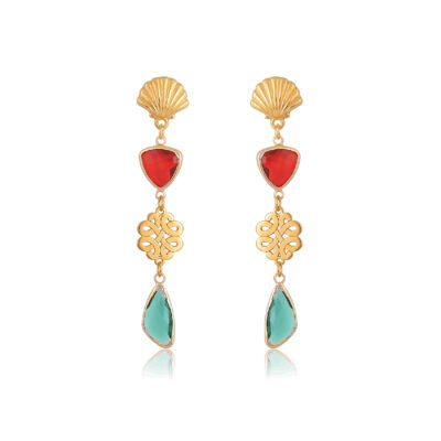 Nordic knot and shell earring
