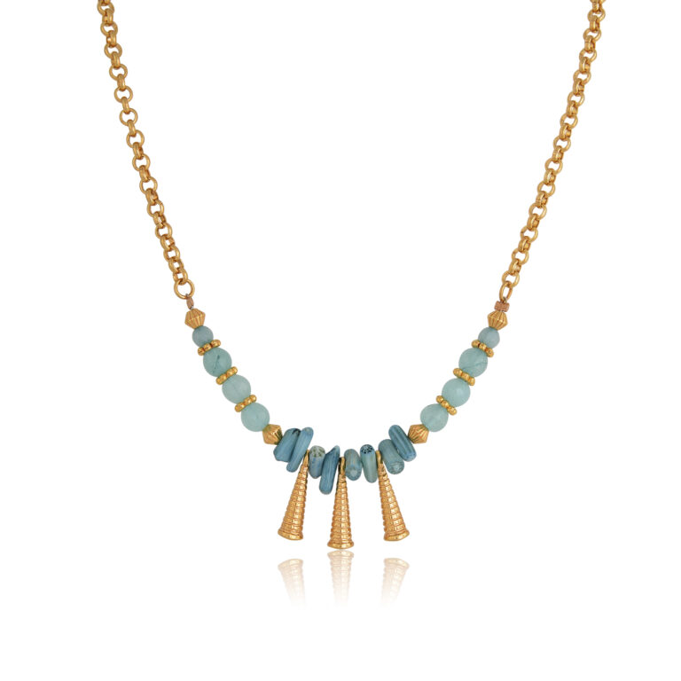 Beautifully made Bohemian jade necklace made with Polygonal jade bead, 24K gold-plated brass elements. Absolute summer combination of mint, teal and gold, these earrings complete perfectly your everyday look or boho outfit and are an ideal choice for casual or formal looks. Combine them with the earrings of the Bohemian Queen series for a complete look!