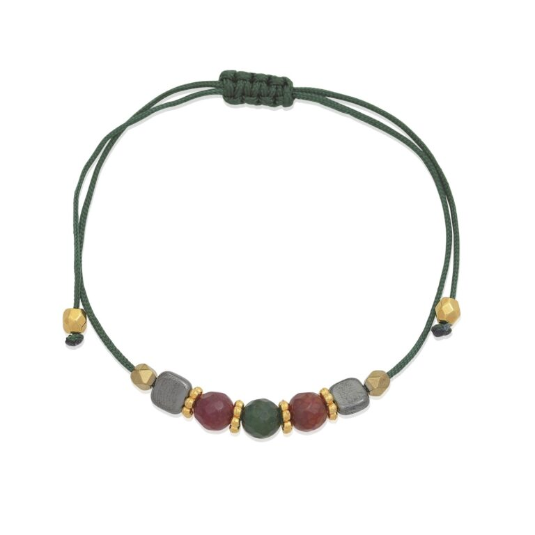 """A nice colorful bracelet. A wonderful color combination. Fine materials like jade, hematite, and 24k gold-plated brass is making this bracelet a must-have for your jewelry box. To create a beautiful stack of bracelets, browse our """"Bracelet collection"""" and choose among a wide variety to find your favorites."""